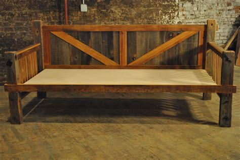 Wood Daybed Frame Rustic Furniture For Rustic Bedroom Decoration Using Rustic Solid Oak Wood Ikea