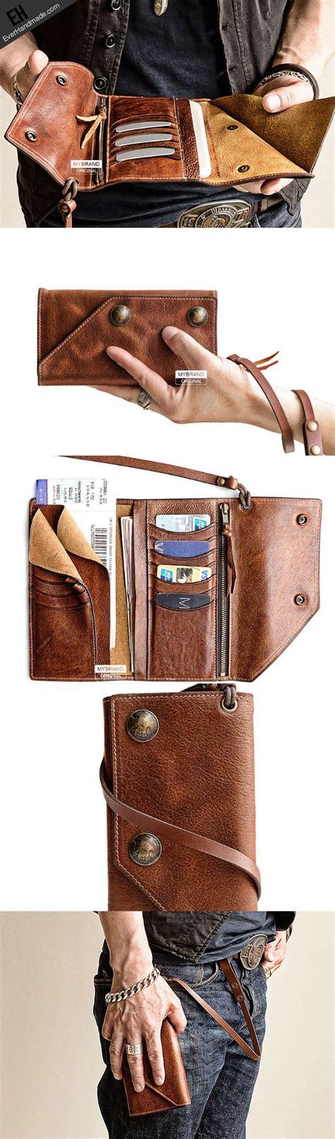 leather trucker wallet pattern handmade leather biker trucker wallet leather chain men