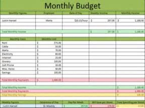 excel spreadsheet for paying monthly bills printable