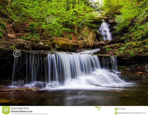 Kitchen Creek by Ozone Falls On Kitchen Creek In Glen Leigh Ricketts Glen