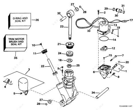 Johnson 1999 100 J100wpleec Power Trim Tilt Hydraulic