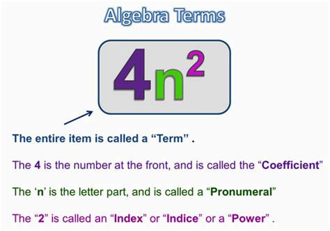 Letter Using Mathematical Terms Algebra Terms And Expressions Passy S World Of Mathematics