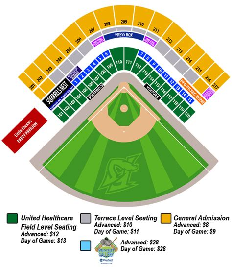 altoona curve stadium seating chart seating chart richmond flying squirrels tickets