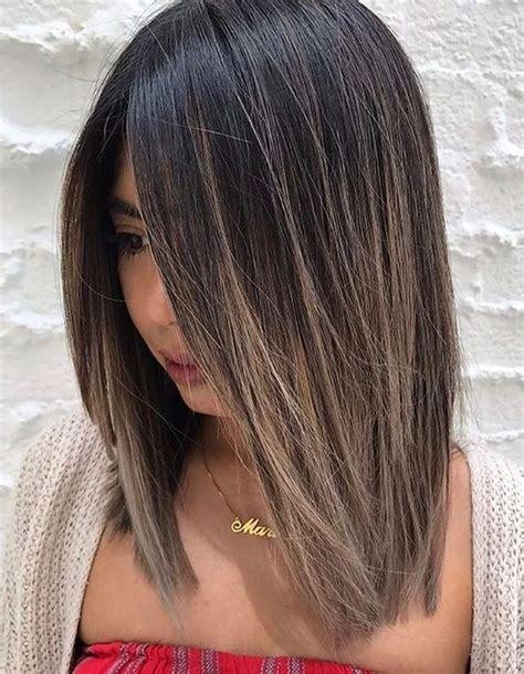 pelo corto y liso mechas balayage pelo corto y liso cortes de pelo