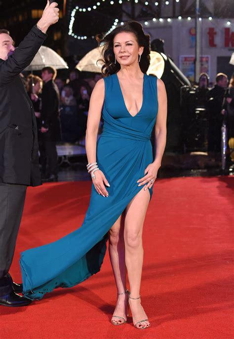 Catwalk To Carpet Catherine Zeta Jones by Catherine Zeta Jones Shows Major Leg On The Carpet