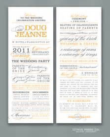 wedding program exles what to include in your wedding program citrus press co invitations