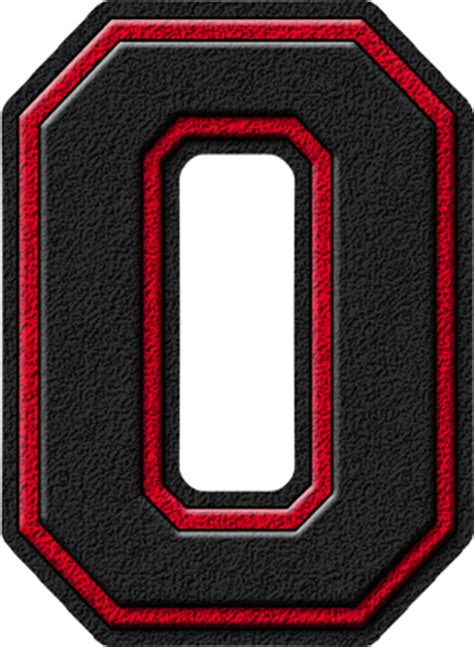 Black Letter Definition Presentation Alphabets Black Cardinal Varsity Numeral 0