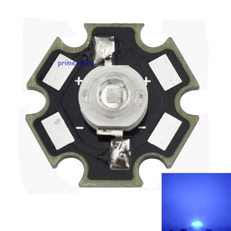 High Power Led 3w Blue 10pcs 3w royal blue 450 455nm high power led emitter 700ma with 20mm base for plant grow