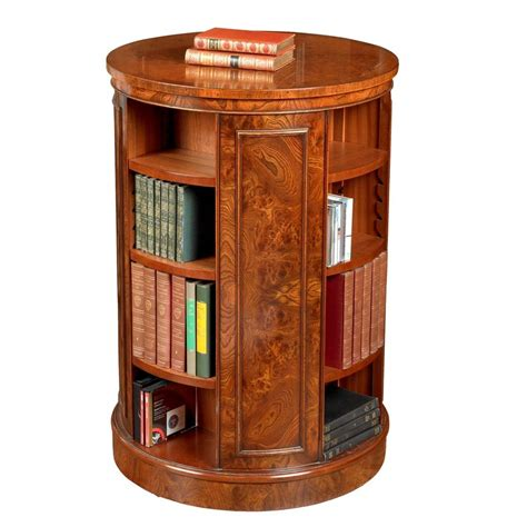 Ready Made Bookshelf Tall Revolving Elm Round Bookcase Bookcases Cabinets