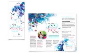 makeup artist tri fold brochure templates health amp beauty