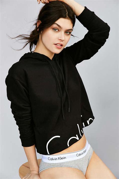 So Crop Hoodie Jaket calvin klein modern cropped hoodie sweatshirt outfitters and sweatshirt