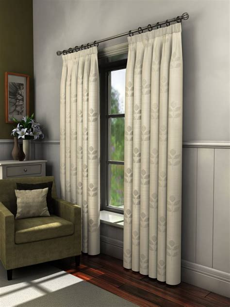 46 inch curtains florence crushed cream voile lined curtains with leaf