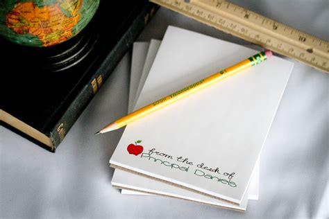 from the desk of notepads set of 4 personalized teacher notepad from the desk of