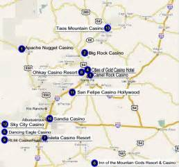 New Mexico Casinos Map casinos in new mexico