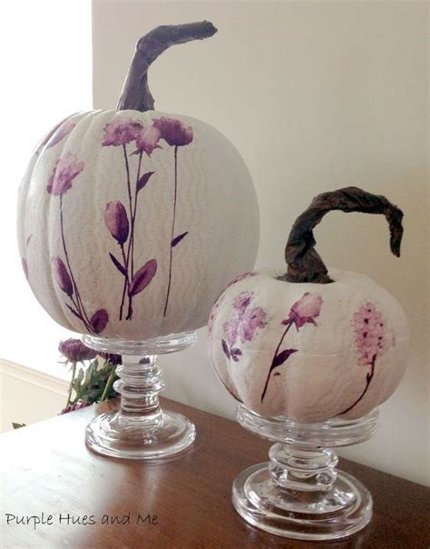 How To Decoupage On Plastic - decoupage paper napkins on pumpkins using plastic wrap