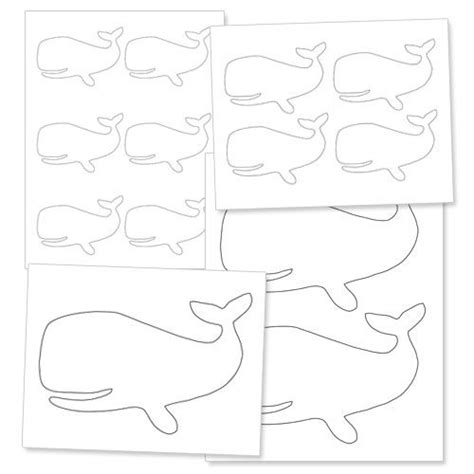 printable whale template a smiling whale nautical