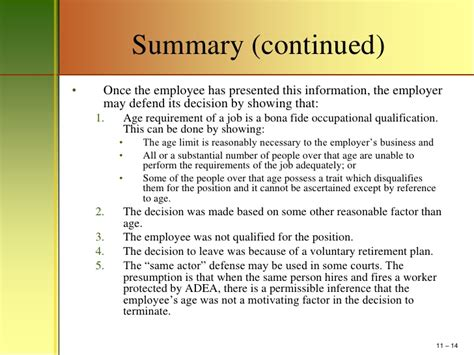 Age Discrimination Essay by Mm411 Chapter 11 Age Discrimination Power Point Outline