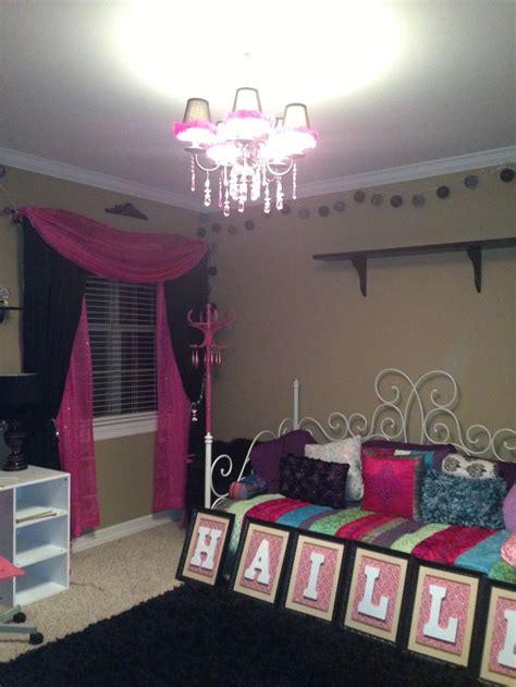 chandelier teenage bedroom teen room chandelier in hailley s room teen room pink and black