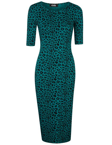George At Asda To Promote Home Grown Fashion by Curvy Wordy George At Asda G21 Animal Print Bodycon Dress 14