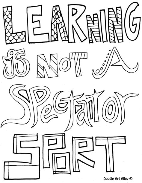 educational coloring books for adults learning is not a spectator sport coloring pages for