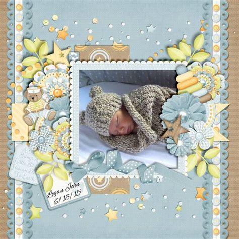 layout scrapbooking baby layout using sweet baby boy digital scrapbooking
