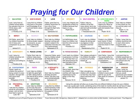 Where S My Calendar Prayer Calendar For Children The Link For This Is