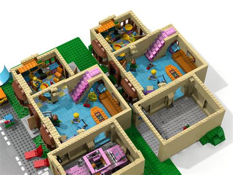 The Simpsons House Floor Plan unofficial ldd 71006 the simpsons house roof mod and more