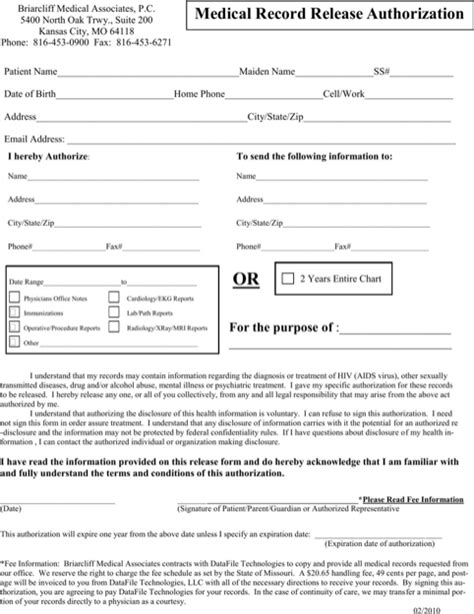 Missouri Records Free Missouri Records Release Form For Free Formtemplate