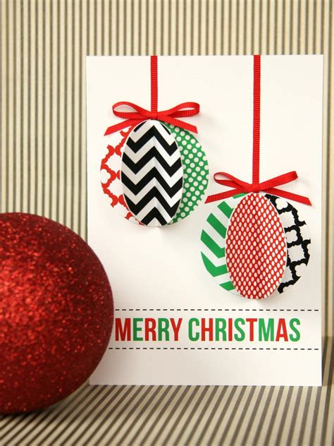 handmade modern ornament holiday card hgtv