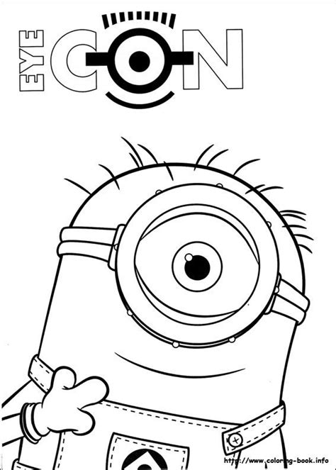 Minions coloring picture   ミニオンズ, ぬりえ