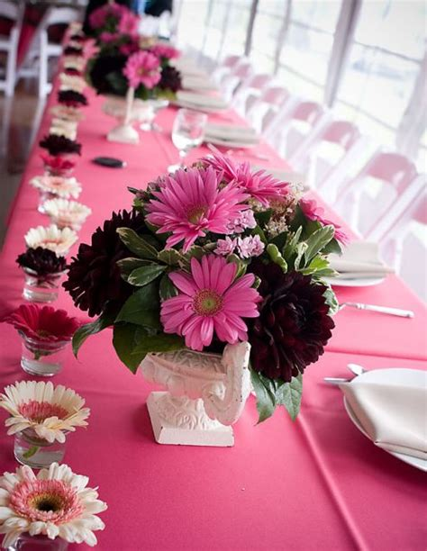 pink and black wedding centerpieces wedding decorations