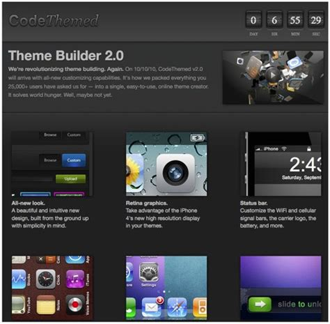 themes builder for java phone th 232 me builder 2 0 cr 233 ez vos th 232 mes iphone depuis le web