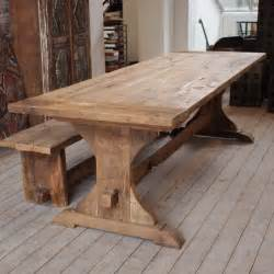 salvoweb large reclaimed oak monastery dining table