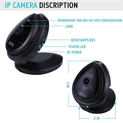 portable mini ip uokoo 1280x720p home surveillance