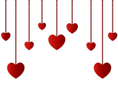hanging hearts decoration png picture clipart
