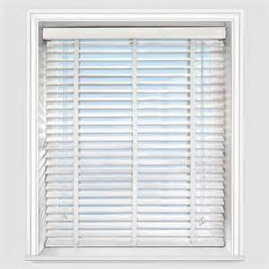 designer simply white with wooden venetian blind