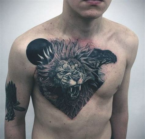 30 lion chest tattoo design ideas 2017