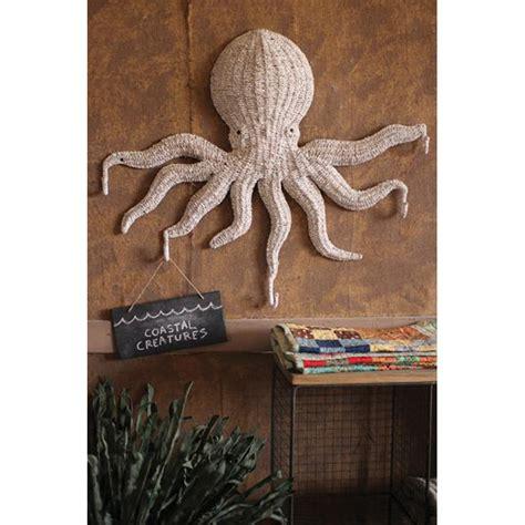 Wicker Wall Decor by Wicker Octopus Wall Hanging With 5 Hooks