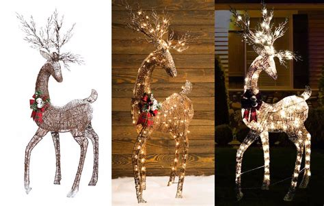 how to rewire an xmas reindeer collection of lighted reindeer tree decoration ideas