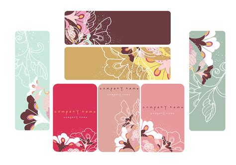 Photoshop Floral Business Card Template by Floral Photoshop Business Card And Banner Pack Free