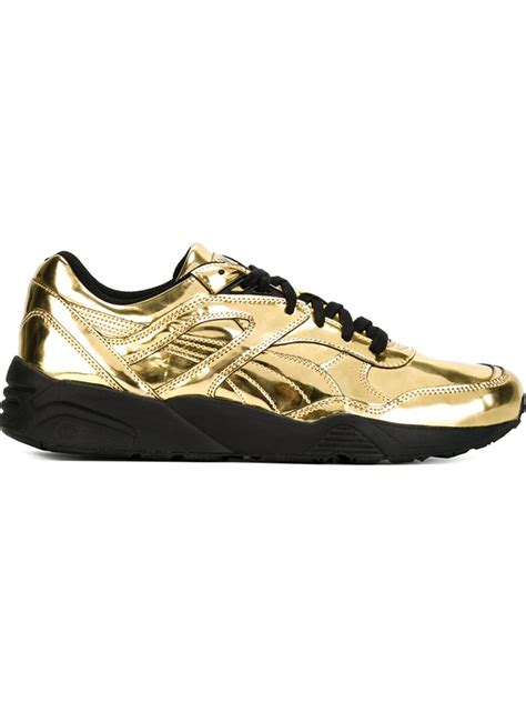 metallic sneakers lyst x vashtie metallic sneakers in metallic for
