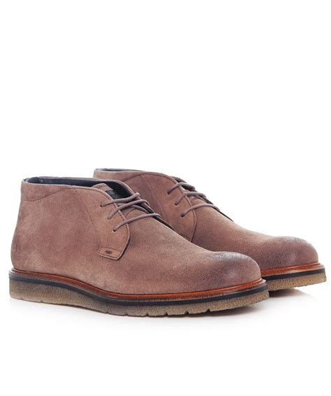 hugo orange suede tuned desert boots jules b