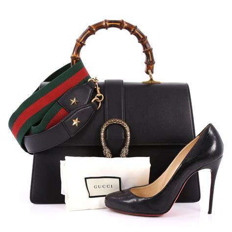 Gucci Gucci Dionysus Bamboo Handbags 8903 buy gucci dionysus bamboo top handle bag leather large black 2212601 trendlee