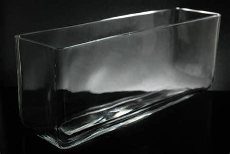 Rectangular Glass Vases For Centerpieces by Rectangle Glass Vase Glass Vases Containers