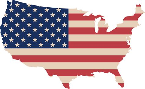 america map flags clipart usa map and flag