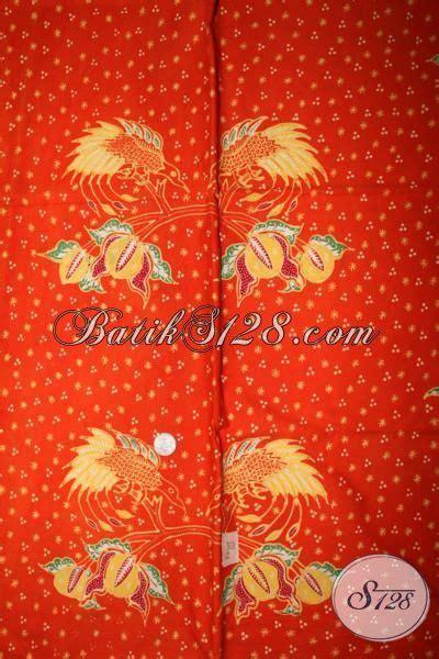 Kain Batik Sogan Jawa Premium 002 batik kain orange proses tulis kwalitas premium batik jawa motif modern bahan busana mewah