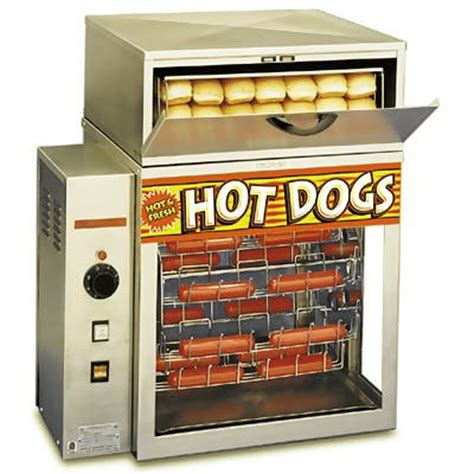 broil dogs apw dr 2a mr frank broil a machine steamers zesco