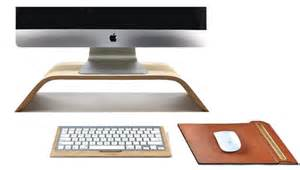 Desk Screen Accessories Wooden Desk Accessories Elevate Your Computer To A New Level