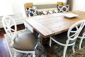 Wooden Dining Table With White Chairs Leathered White Wood Dining Chairs With Large Table Homefurniture Org