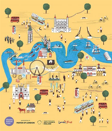 river thames map poster design diary no 57 eye on design
